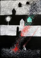 obraz Dlouhá zima, technika suchý pastel