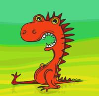 červený drak, vektorová ilustrace