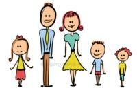 veselá vektorová ilustrace na téma rodina