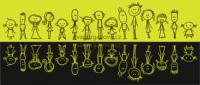 veselá vektorová ilustrace na téma občané, lidi, postavičky