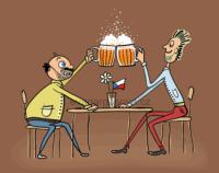 dva kamarádi si zašli na pivko, český produkt