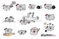 Karta - ilustrované ikonky pro ALUMNI